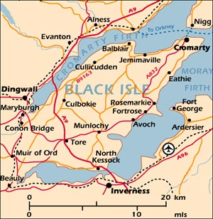 Black Isle Map